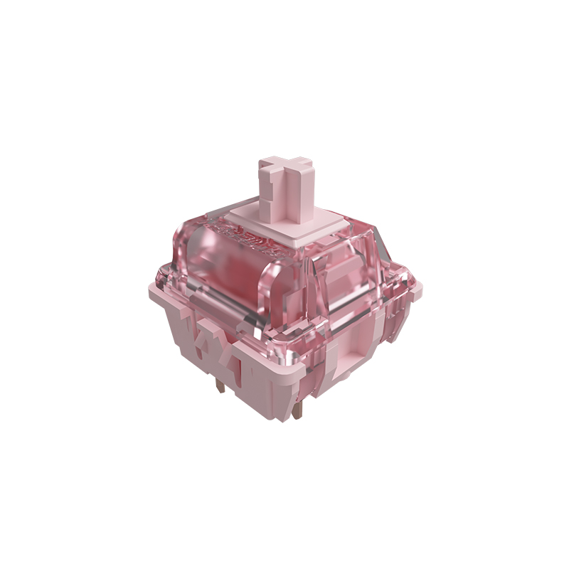 switch gateron pink trên bàn phím cơ akko